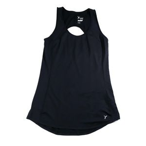 Old Navy Active Black Jack Keyhole Back Tank Top